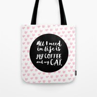 Coffee & Cats  Tote Bag