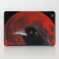 Crow And The Red Glow Moon iPad Case