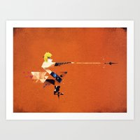 The Yellow Flash Art Print