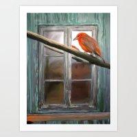 Bird and Window Art Print