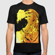 GOLDFALL Mens Fitted Tee Tri-Black SMALL