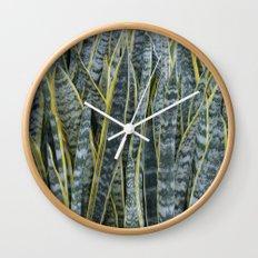 Snake Plants II Wall Clock