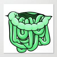 viscera : melon Canvas Print