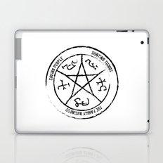 Supernatural Devil's Trap (black on white) Laptop & iPad Skin