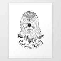 Mustache Wookiee Art Print