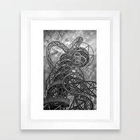 The Arcelormittal Orbit Monochrome Framed Art Print