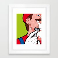 The secret life of heroes - MarioHair Framed Art Print