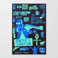Tribute To Hunter S. Tho… Canvas Print