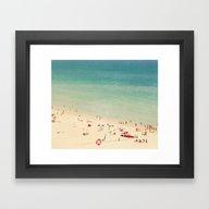 Framed Art Print featuring Beach  by Ingrid Beddoes