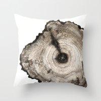 cross-section I Throw Pillow