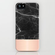 Black Marble And Pink  iPhone (5, 5s) Slim Case