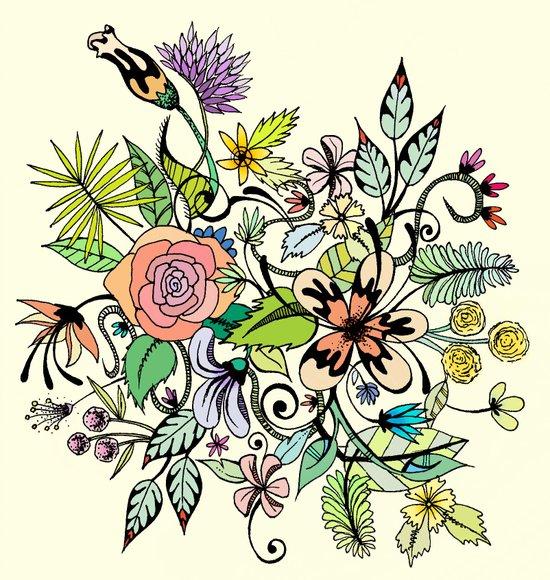 Floral Yellow Art Print
