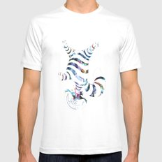 We Are All Mad Here Mens Fitted Tee White SMALL