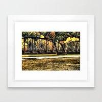 West VA Train Bridge Framed Art Print