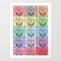 Pixel Geek Art Print