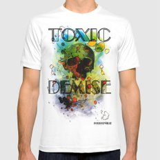 Toxic Demise White Mens Fitted Tee SMALL