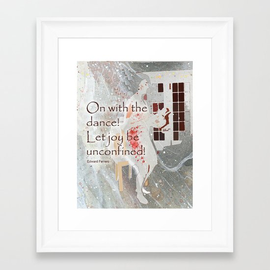 On With the Dance Framed Art Print