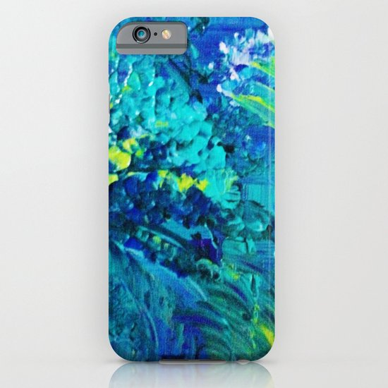 DIVE IN - Beautiful Textural Abstract Acrylic Painting Ocean Waves Beach Art Home Decor Gift iPhone & iPod Case