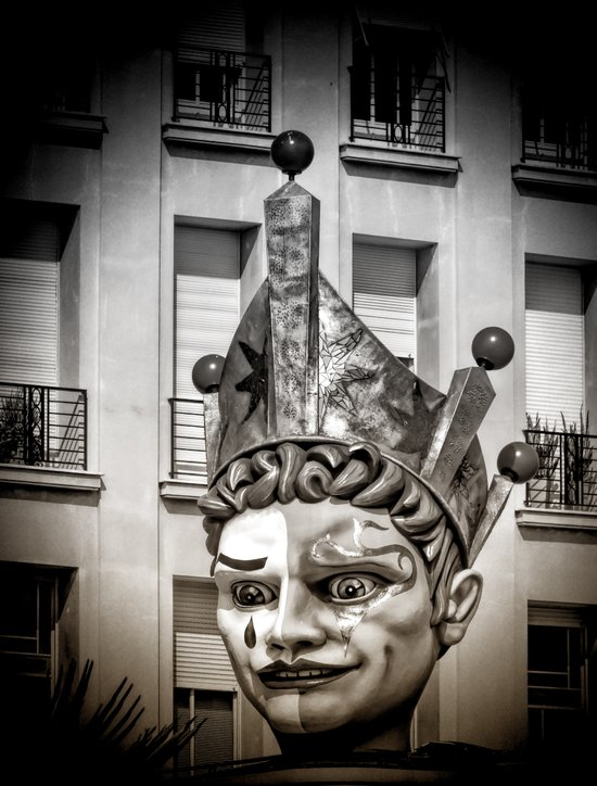 Harlequin of Nice Art Print