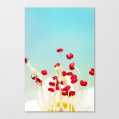 Blooming Candy Red Canvas Print