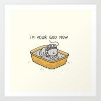 Your god Art Print