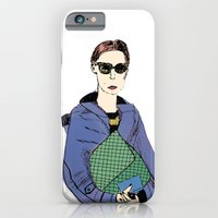 iPhone & iPod Case featuring Bag Lady Blue by Julianne Ess