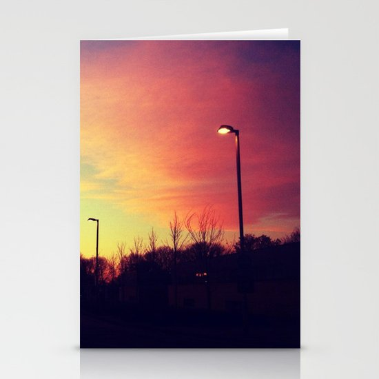 Sunrise series- Shade of light Stationery Card