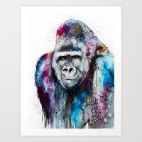 Gorilla Art Print