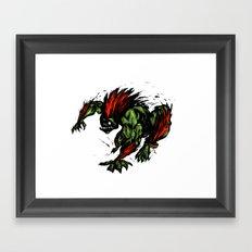 Blanka Rush! - Street Fighter Framed Art Print