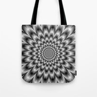 Chrysanthemum in Black and White Tote Bag