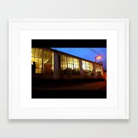 Framed Art Print featuring Windows at night by Vorona Photography