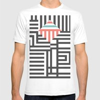 Reflection Mens Fitted Tee White SMALL