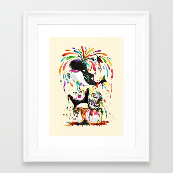 Yay! Whale of a Bath Time! Framed Art Print