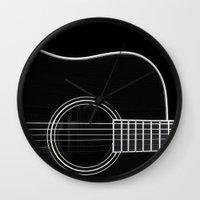 Guitar BW Wall Clock