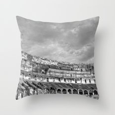 Inside of the Colosseum Throw Pillow