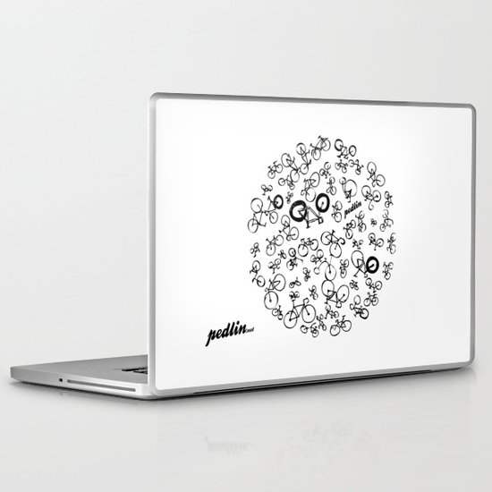 Bicycle World Laptop & iPad Skin