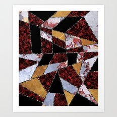 Abstract #459 Stone and Metal Shards Art Print