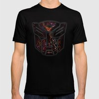 Autobots Abstractness - … Mens Fitted Tee Black SMALL