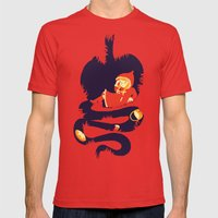Big bad wolf Mens Fitted Tee Red SMALL