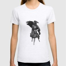 Raven Womens Fitted Tee Ash Grey SMALL