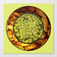 Pasta + Beans Canvas Print