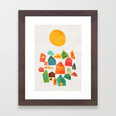 Looking At The Same Sun Framed Art Print