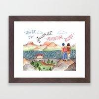 Adventure Buddy Framed Art Print