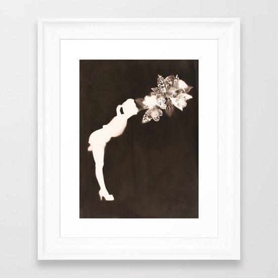 Negative Kiss Framed Art Print