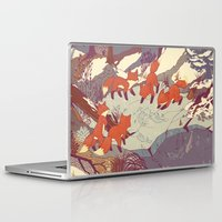 iphone 5 case Laptop & iPad Skins featuring Fisher Fox by Teagan White