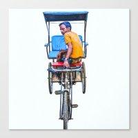 Cycle Wala, Jaipur. India Canvas Print