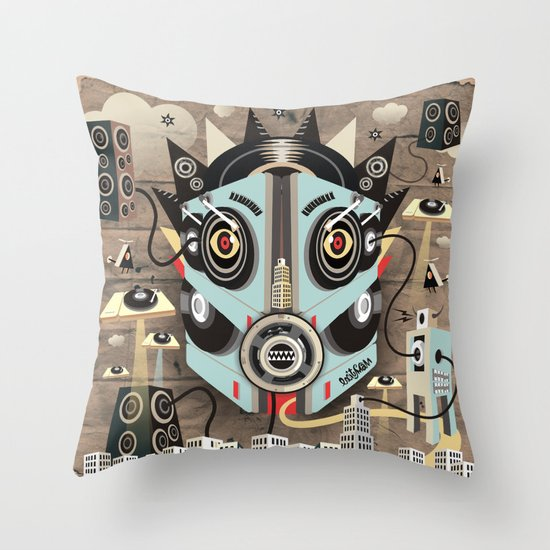 Ubiquity sound Throw Pillow
