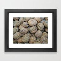 Autumn Walnuts Framed Art Print