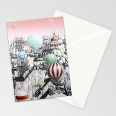 Balloon travel Stationery Cards