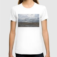 Crane in the Swamp Womens Fitted Tee White SMALL